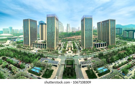 modern city office buildings in jinan shandong china