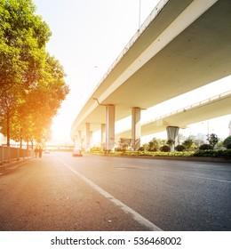 modern city overpass and roads
