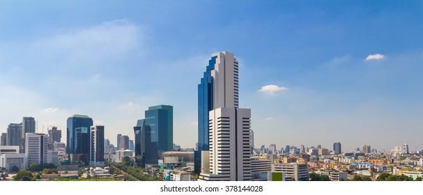 Modern city view of Bangkok, Thailand. Cityscape.