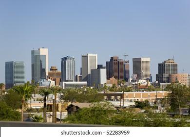 Modern Cityscape of Phoenix Downtown Business Park, Arizona