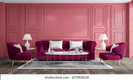 Luxury Modern Interior Living Room Blue Stock Illustration 791129119 ...