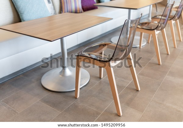 Miraculous Modern Clear Acrylic Chair Wooden Legs Stock Photo Edit Now Spiritservingveterans Wood Chair Design Ideas Spiritservingveteransorg