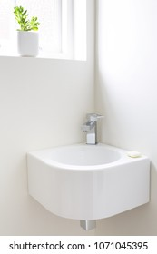 Modern cloakroom washroom basin