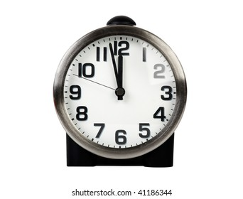 modern clock on white clipping path included
