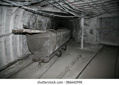 Modern coal mine underground