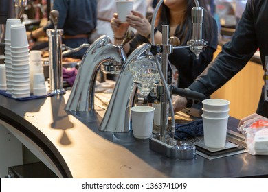 Modern coffee maker in coffee shop  Can make many types of coffee