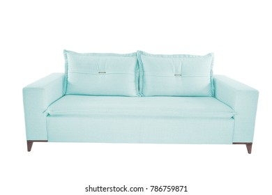 modern color suede couch sofa   isolated on white background