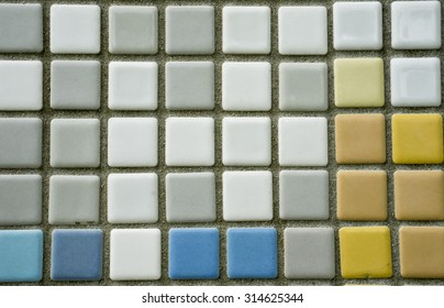 The modern colorful ceramic tile wall background and texture