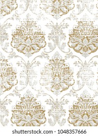 modern colors nature damask with texture pattern