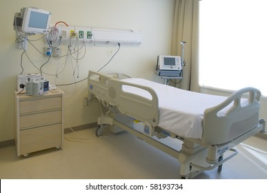 modern and comfortable equipped hospital room