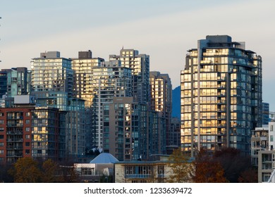 Modern Commmercial and residential high rise buildings