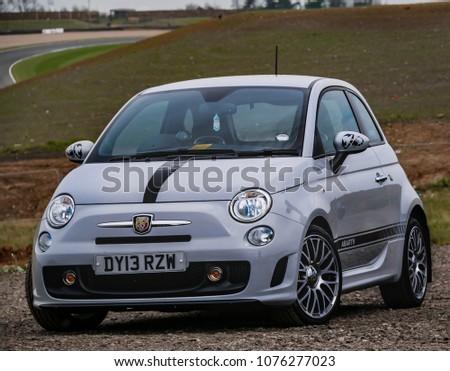 Modern Compact 2 Door Fiat 500 Stock Photo Edit Now 1076277023