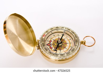 Modern compass with cover and ring