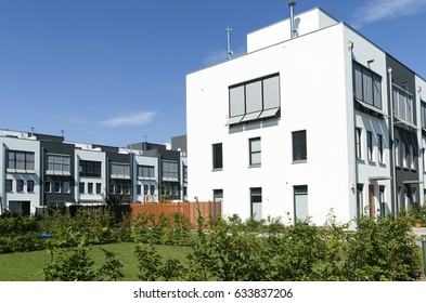 Modern complex of apartment buildings in Berlin