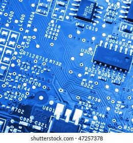 modern computer electronic from a modern pc