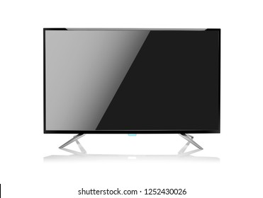 Modern computer monitor or TV set isolated on white background.