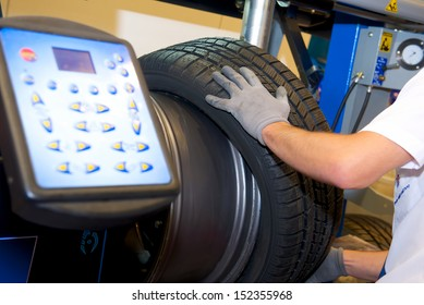 modern computer stand balancing of wheels