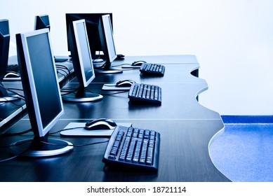 modern computers in IT office