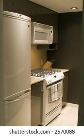 A modern condo kitchen