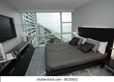 Modern condominium bedroom furniture  Furniture provided by www.lignerosetmiami.com