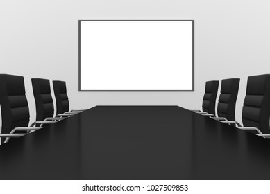 modern conference meeting room with whiteboard 3d Illustration