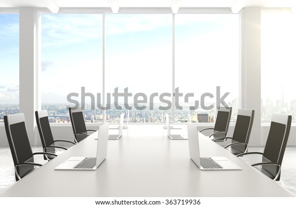Modern Conference Room Furniture Laptops Big Stock Photo (Edit Now)  363719936