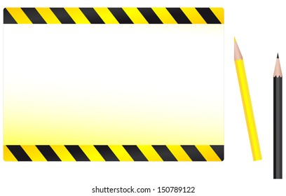 modern construction background with yellow and black pencil