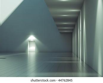 Modern contemporary architecture exterior corridor,walls,glass