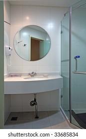 a modern, contemporary designer bathroom