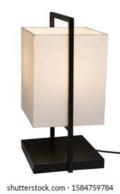 Modern contemporary table lamp, simple design in zen style. isolated with paths.
