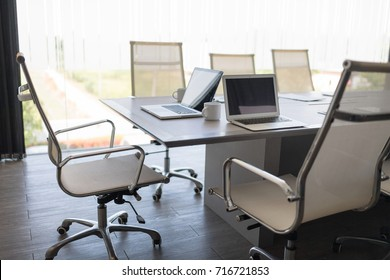 Modern Contracted Office interiors.In selective focus with perspective. Setup studio shooting.