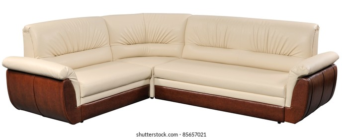 modern corner furniture. Modern Corner Furniture, Soft Sofa-bed Isolated On White With Clipping Path Included Furniture E