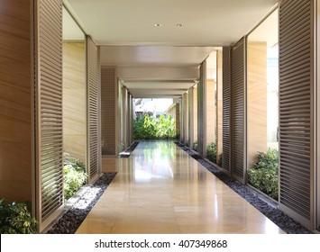 modern corridor interior