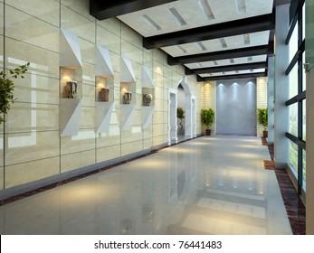 Modern corridor interior image