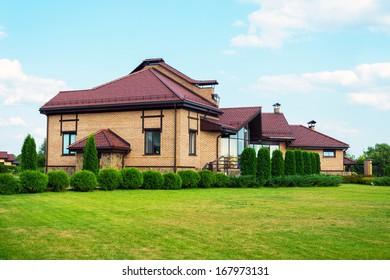 Modern cottage with elements of landscape design