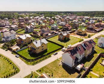 Modern cottage village near Moscow, Russia