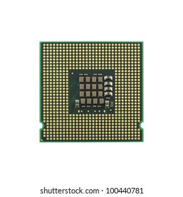 Modern CPU isolated on white.