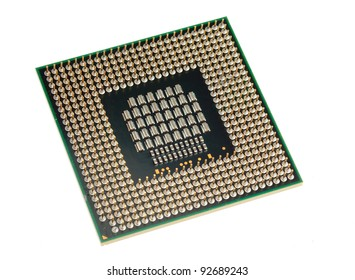 Modern CPU isolated on white