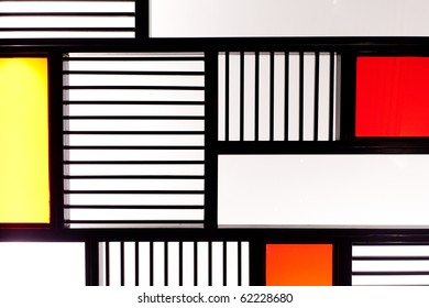 Modern creative box and line pattern