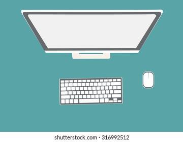 Modern creative office desktop workspace