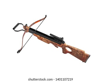 Modern crossbow isolate on white background