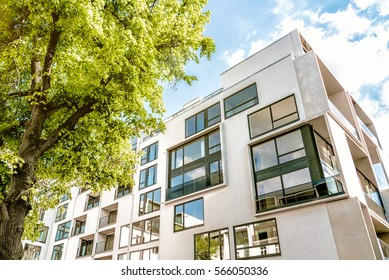modern cubic residential architecture in Berlin