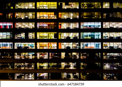 Modern Cubicles - Office building after hours