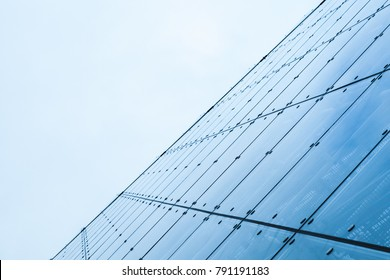 Modern curtain wall made of toned glass and steel