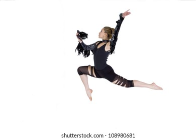 Modern dance, young woman