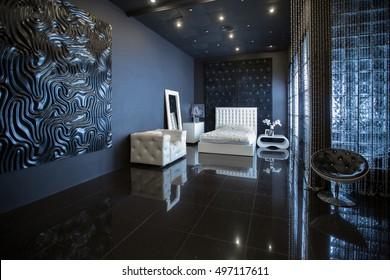 Dark Luxury Bedroom Stock Photos Images Photography Shutterstock