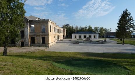 The modern design of buildings along the coast in Tallinn .. - Shutterstock ID 1482906680