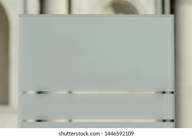 A modern design glass blank sign.