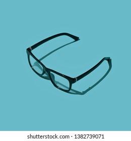 Modern design glasses, eyesight and fashion accessories