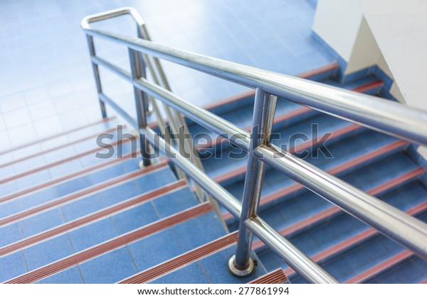 modern design of handrail and staircase